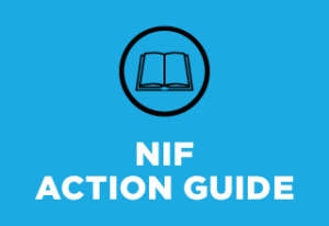 "Text reads ""NIF Action Guide"""