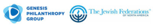 Two logos - one more Genesis Philanthropy Group and one for The Jewish Federation of North America